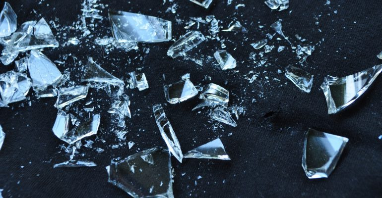 Letselschade door glasscherven